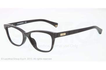 Armani EA3015F Eyeglass Frames 5001-53 - Matte Black/Black Frame