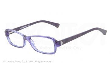 Armani EA3016 Bifocal Prescription Eyeglasses 5098-51 - Striped Transp Violet Frame