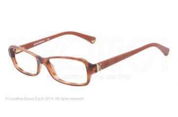 Armani EA3016 Bifocal Prescription Eyeglasses 5099-51 - Striped Transp Brown Frame