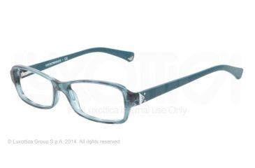 Armani EA3016 Bifocal Prescription Eyeglasses 5101-51 - Striped Transp Petroleum Frame