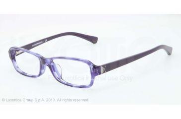 Armani EA3016F Single Vision Prescription Eyeglasses 5098-53 - Striped Transp Violet Frame