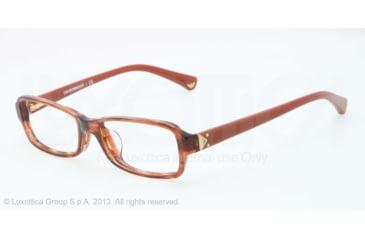 Armani EA3016F Single Vision Prescription Eyeglasses 5099-53 - Striped Transp Brown Frame