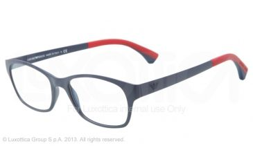 Armani EA3017 Single Vision Prescription Eyeglasses 5122-50 - Matte Blue Frame