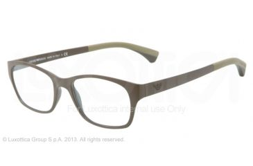 Armani EA3017 Single Vision Prescription Eyeglasses 5123-50 - Matte Dark Green Frame