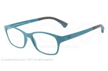 Armani EA3017 Single Vision Prescription Eyeglasses 5124-50 - Matte Petroleum Frame