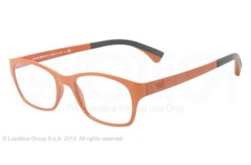 Armani EA3017 Single Vision Prescription Eyeglasses 5125-50 - Matte Brick Red Frame