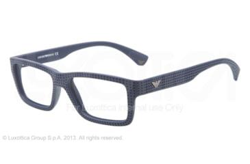 Armani EA3019 Single Vision Prescription Eyeglasses 5065-53 - Blue Frame