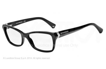 Armani EA3023F Progressive Prescription Eyeglasses 5017-54 - Black Frame