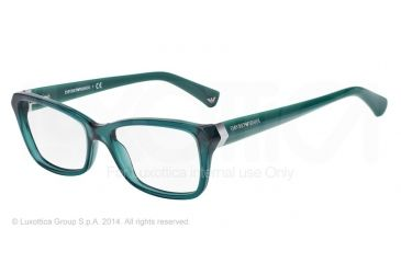Armani EA3023F Progressive Prescription Eyeglasses 5201-54 - Petroleum Frame