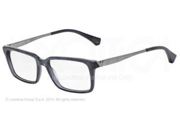 Armani EA3030 Bifocal Prescription Eyeglasses 5029-53 - Transparent Grey Frame