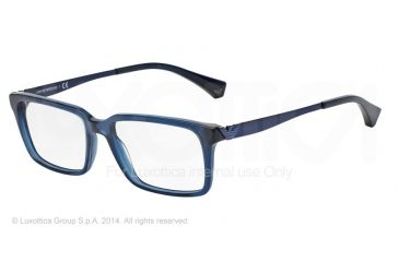Armani EA3030 Bifocal Prescription Eyeglasses 5072-53 - Transparent Blue Frame