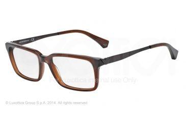Armani EA3030 Bifocal Prescription Eyeglasses 5198-53 - Transparen Brown Frame