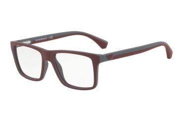 Armani EA3034 Eyeglass Frames 5616-55 - Top Bordeaux On Dk Grey Rubber Frame f0732da4b1