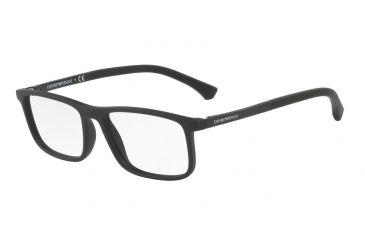 5cc8783a21d Armani EA3125 Bifocal Prescription Eyeglasses 5063-53 - Black Rubber Frame