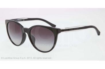 Armani EA4003F Sunglasses 50178G-55 - Black Frame, Gray Gradient Lenses