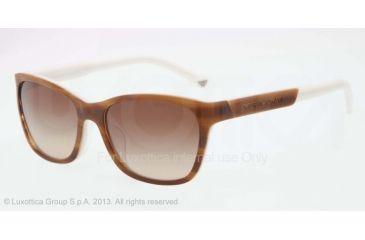 Armani EA4004F Sunglasses 504713-56 - Striped Brown/cream Frame, Brown Gradient Lenses