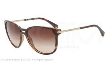 Armani EA4006 Sunglasses 502613-56 - Dark Havana Frame, Brown Gradient Lenses