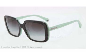 Armani EA4007F Sunglasses 50458G-54 - Black/opal Aqua Green Frame, Gray Gradient Lenses