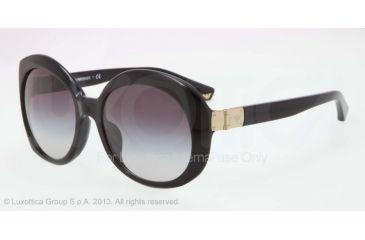 Armani EA4009F Sunglasses 50178G-56 - Black Frame, Gray Gradient Lenses