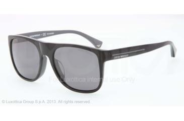 Armani EA4014F Sunglasses 510281-56 - Top Black On Gray Frame, Polar Grey Lenses