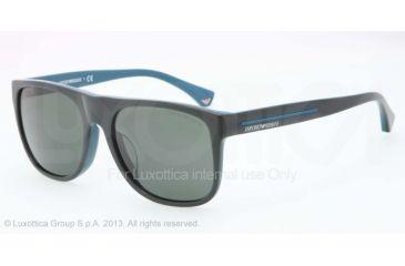 Armani EA4014F Sunglasses 510471-56 - Top Cypress/petroleum Frame, Gray Green Lenses