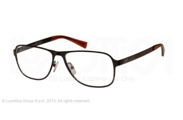 Armani Exchange AX1008 Single Vision Prescription Eyeglasses 6014-55 - Satin Black Frame