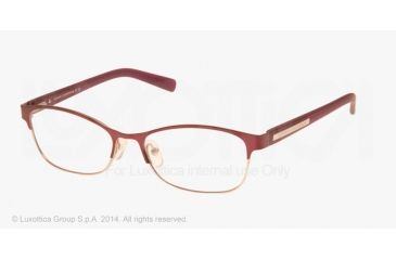 Armani Exchange AX1010 Eyeglass Frames 6050-53 - Satin Berry Jam/satin Silver Frame