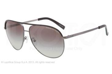 Armani Exchange AX2002 Progressive Prescription Sunglasses AX2002-600611-61 - Lens Diameter 61 mm, Frame Color Gunmetal/Black