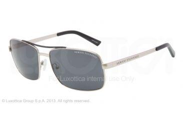Armani Exchange AX2004 Progressive Prescription Sunglasses AX2004-602487-60 - Lens Diameter 60 mm, Frame Color Silver/indigo Wash