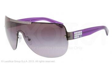 Armani Exchange AX2005 Sunglasses 60078H-39 - Gunmetal/bright Grape Frame, Purple Gradient Lenses