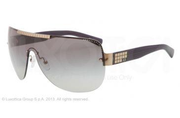 Armani Exchange AX2005 Sunglasses 600811-39 - Light Gold/black Frame, Grey Gradient Lenses