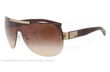 Armani Exchange AX2005 Sunglasses 600913-39 - Light Gold/brown Frame, Brown Gradient Lenses