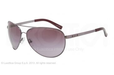 Armani Exchange AX2006 Sunglasses 60048H-63 - Gunmetal/burgundy Frame, Purple Gradient Lenses