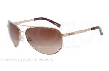 Armani Exchange AX2006 Sunglasses 601113-63 - Light Gold/tortoise Frame, Dark Brown Gradient Lenses