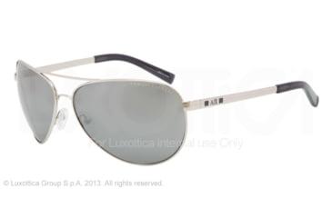 Armani Exchange AX2006 Sunglasses 60246G-63 - Silver/indigo Wash Frame, Silver Flash Solid Lenses