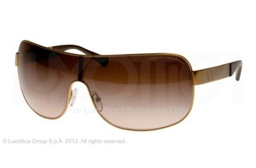 Armani Exchange AX2008 Sunglasses 602613-37 - Satin Light Gold Frame, Khaki Gradient Lenses
