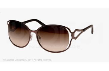 Armani Exchange AX2009S Sunglasses 603313-59 - Chocolate Brown Frame, Khaki Gradient Lenses