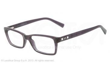 Armani Exchange AX3007 Progressive Prescription Eyeglasses 8005-53 - Black Transparent Frame