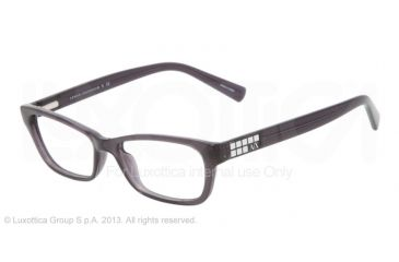 Armani Exchange AX3008 Eyeglass Frames 8005-49 - Black Transparent Frame
