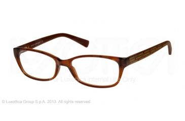 Armani Exchange AX3009 Single Vision Prescription Eyeglasses 8063-53 - Brown Transparent Frame