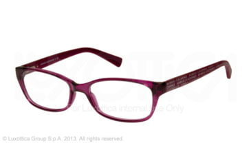 Armani Exchange AX3009 Single Vision Prescription Eyeglasses 8066-53 - Berry Jam Transparent Frame