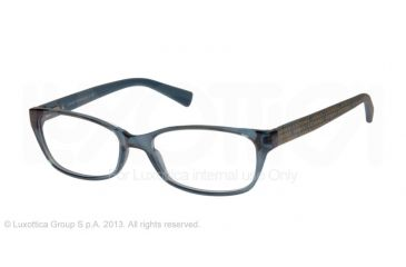 Armani Exchange AX3009 Single Vision Prescription Eyeglasses 8067-53 - Ocean Teal Transparent Frame