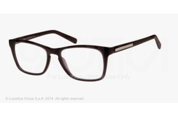 Armani Exchange AX3012 Single Vision Prescription Eyeglasses 8020-52 - Matte Black Transparent Frame