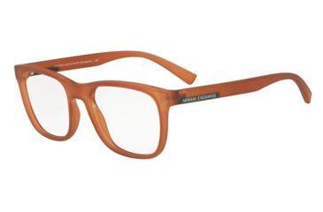 02c87e158a Armani Exchange AX3056 Eyeglass Frames 8277-53 - Matte Transparent Caramel