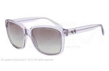 Armani Exchange AX4002 Progressive Prescription Sunglasses AX4002-803111-56 - Lens Diameter 56 mm, Frame Color Mirage Grey Transparent