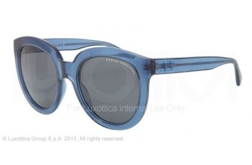 Armani Exchange AX4003 Sunglasses 801987-53 - Maritime Transparent Frame, Grey Solid Lenses