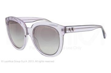 Armani Exchange AX4003 Sunglasses 803111-53 - Mirage Grey Transparent Frame, Grey Gradient Lenses