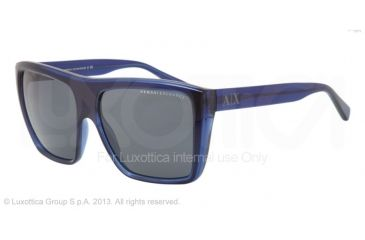 Armani Exchange AX4004 Sunglasses 801787-59 - Marine/maritime Frame, Grey Solid Lenses