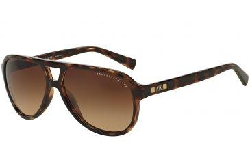 Armani Exchange AX4011 Sunglasses 803713-59 - Tortoise Frame, Light Brown  Gradient Lenses 4c0b8cd510