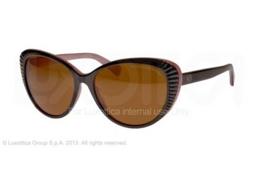 Armani Exchange AX4013 Sunglasses 805573-59 - Black/wild Thistle Frame, Brown Solid Lenses